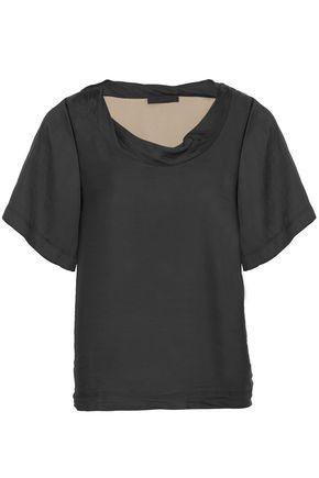 Alexander Wang Woman Satin Top Black