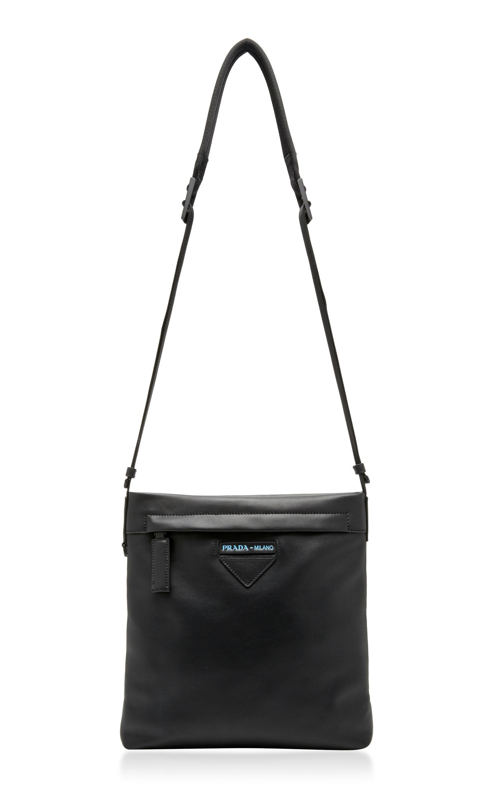 Prada Leather Crossbody Bag In Black
