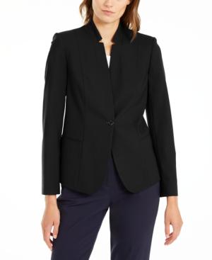 Elie Tahari Tori Notched Collar Blazer In Black
