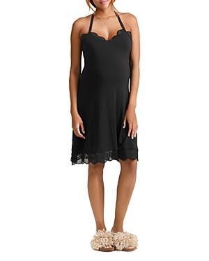 7c250740473 Ingrid   Isabel Maternity Lace-Trimmed Nursing Chemise In Black ...