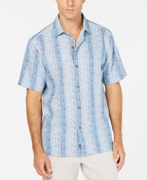 8572c65a Tommy Bahama Men's Tracks To Paradise Silk Camp Shirt In Seagrove Navy