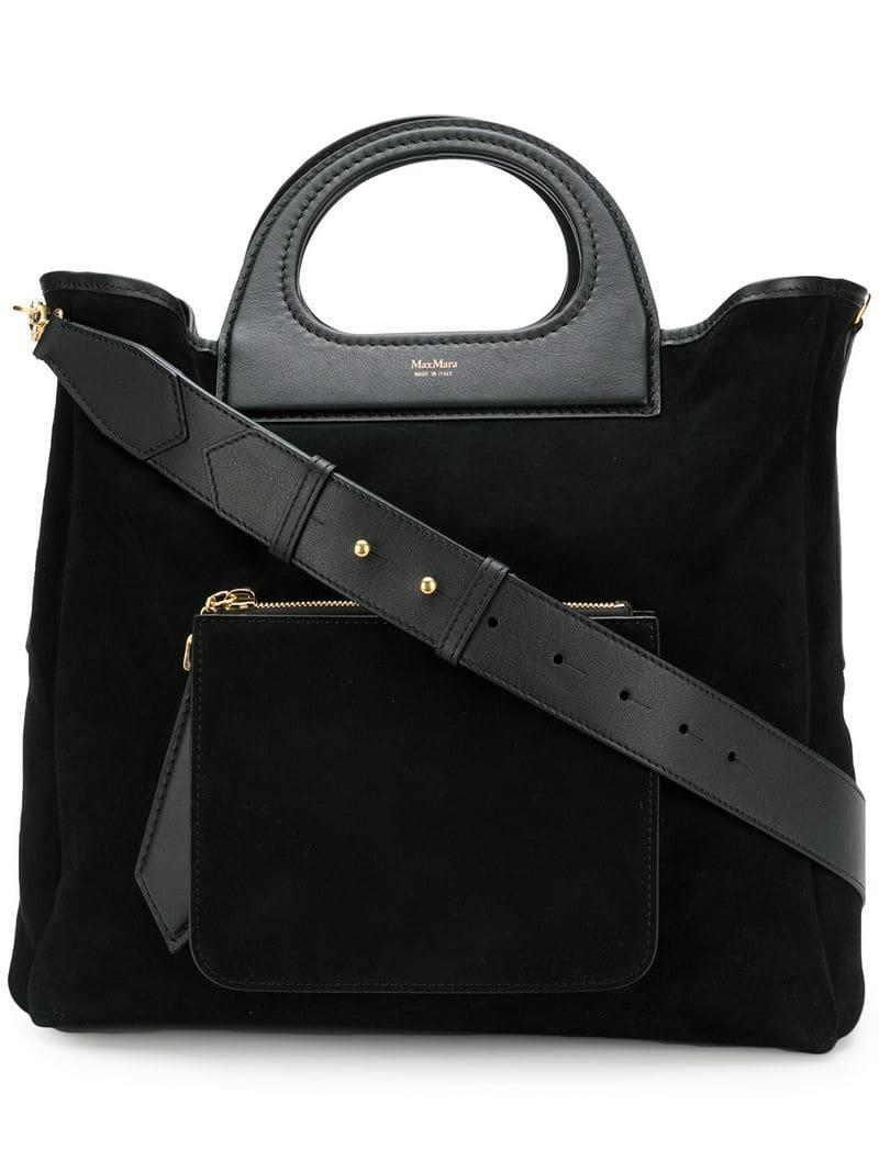 Leather Design Reggio Emilia.Max Mara Reversible Shopper Bag Black Modesens