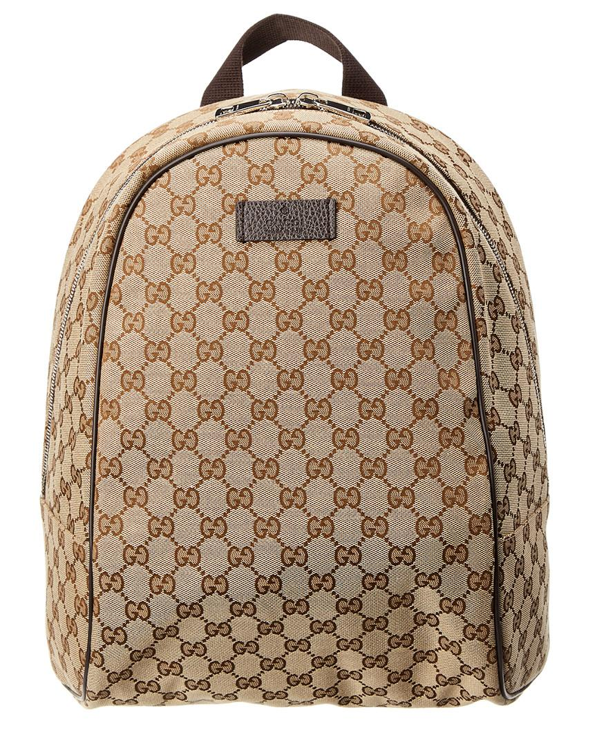 9a0cf8afcf632d Gucci Brown Gg Supreme Canvas & Leather Backpack In Nocolor | ModeSens
