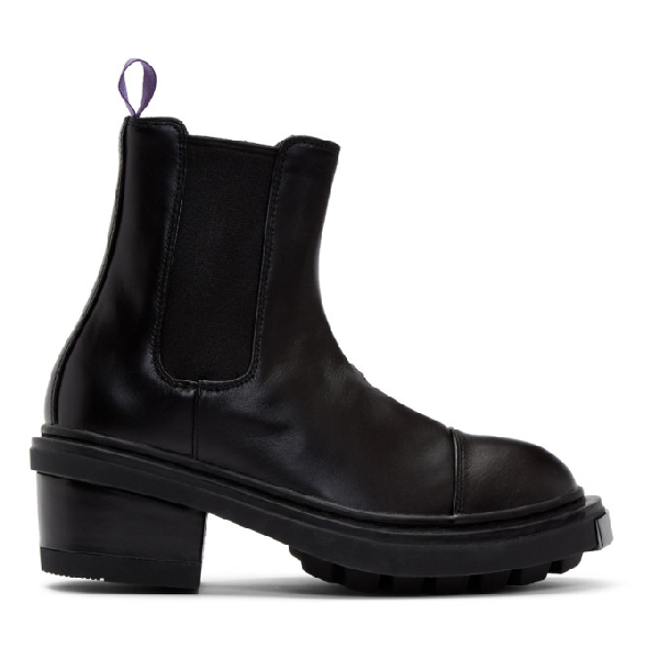 Eytys Nikita Patent Leather Ankle Boot In Black