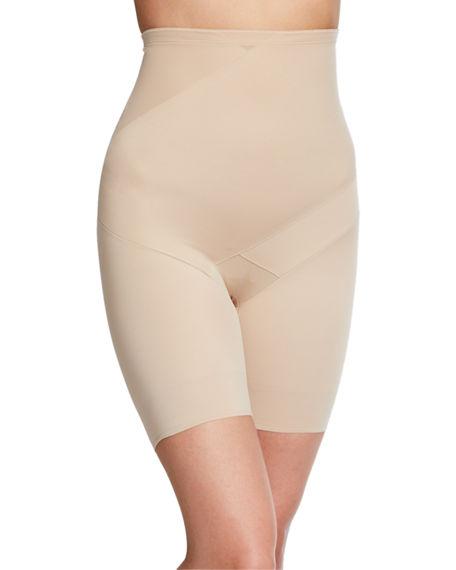 Fine Lines Tummy Tux High-waist Thigh Slimmer Shorts In Nude