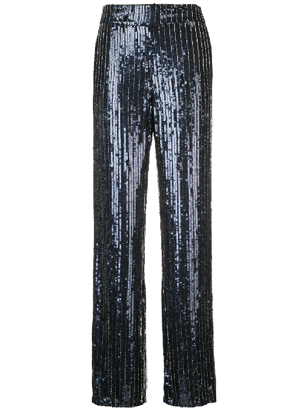 Alice And Olivia Alice + Olivia Racquel Sequined Wide-Leg Pants - 100% Exclusive In Black