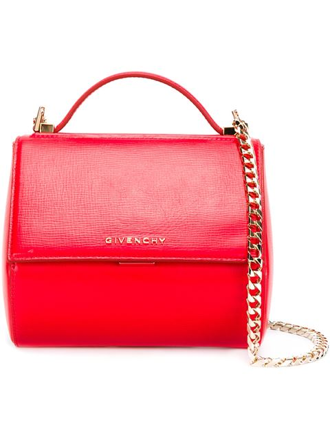 Givenchy Pandora Box Chain Mini Shoulder Bag In Red