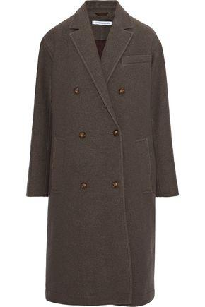 Elizabeth And James Timothy Double-breasted Wool Coat In Mushroom