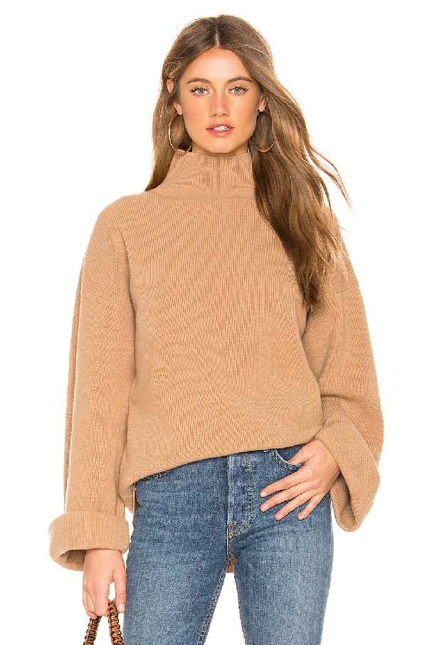 A.p.c. Wool And Cashmere Turtleneck Sweater In Tan