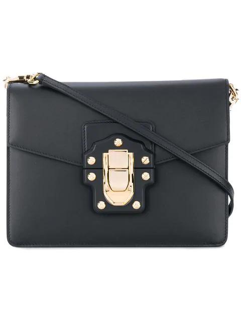 cdda1c55f6 Dolce   Gabbana Woman Lucia Leather Shoulder Bag Plum In Pink