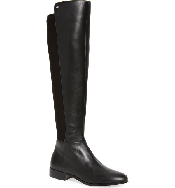 9b31cf016 Michael Michael Kors Bromley Sensitive Stretch Napa Flat Riding Boots In  Black