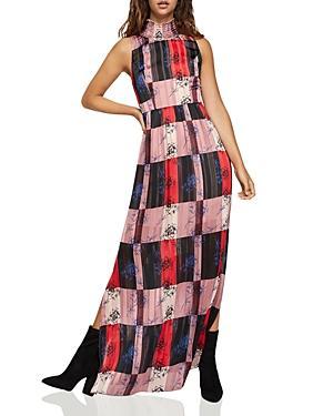 9dde411fe2d Bcbgeneration Floral Colorblock Mock-Neck Maxi Dress In Red