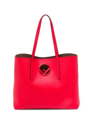 9ee142912458 Leather shopper embellished with classic logo. Double top handles. One  interior removable pouch. Lined 13
