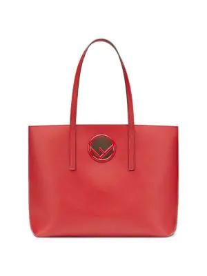 2635fe0afef0 Fendi Classic Leather Shopper In Strawberry