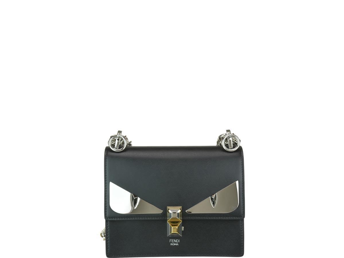 fb3fb6cb228 Fendi Small Kan I Bag Bugs Bag In Black/Palladium   ModeSens