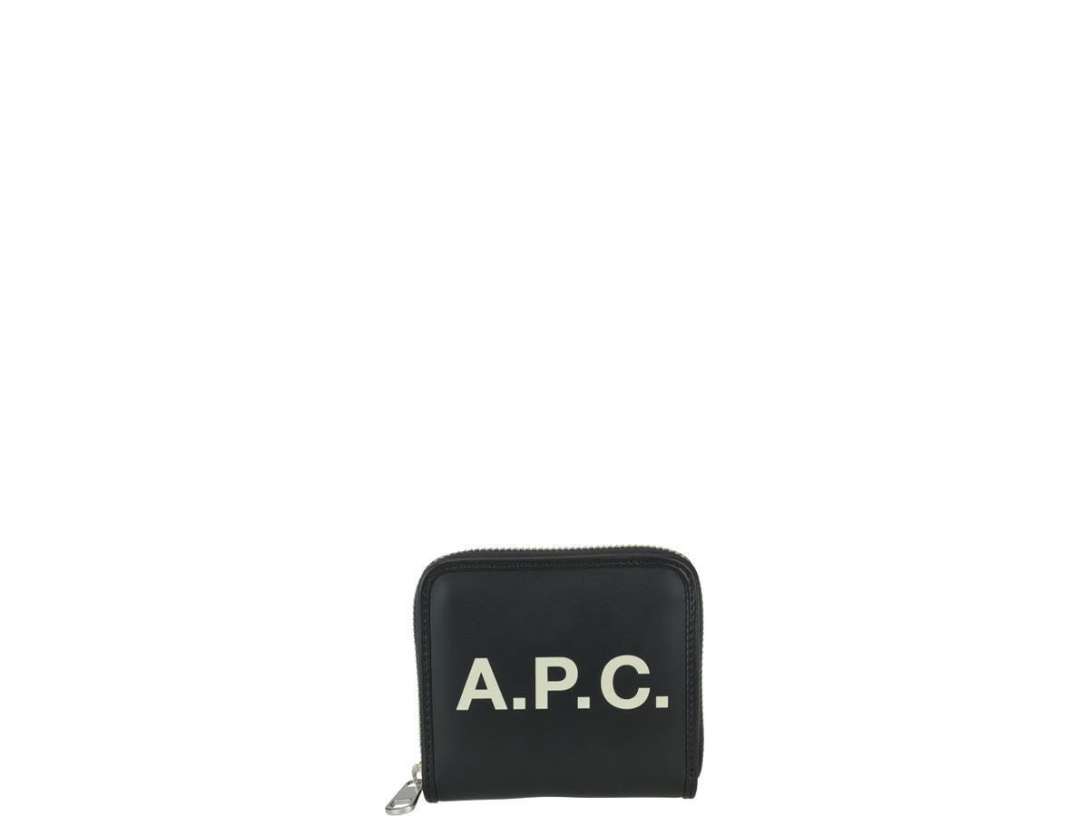 A.p.c. Morgan Zip Wallet In Black