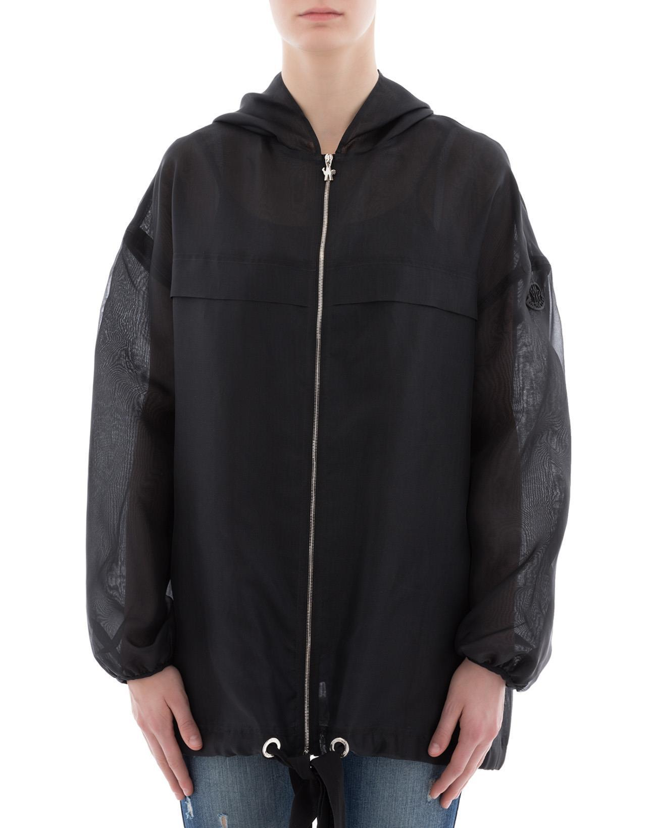 Moncler Hooded Zipped Jacket In Black