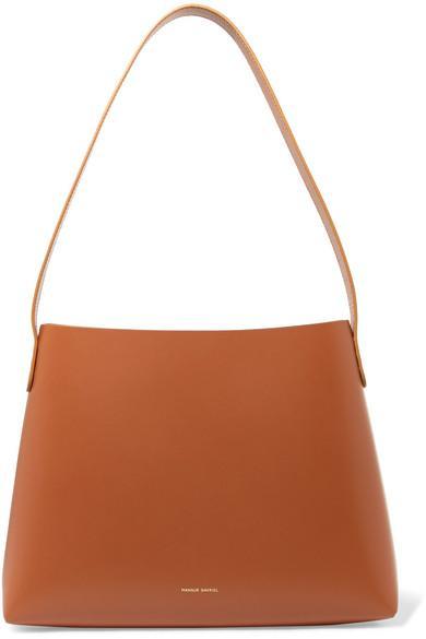 Mansur Gavriel Small Hobo Leather Shoulder Bag In Tan