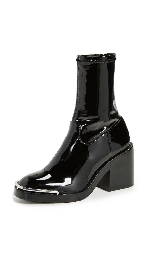 Alexander Wang Hailey Metal-trimmed Pvc Ankle Boots In Black