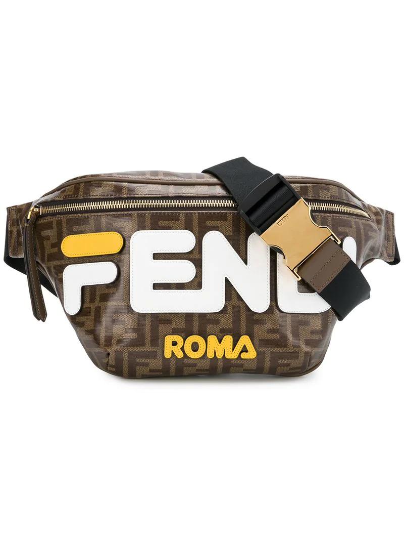 Fendi Logo Patch Belt Bag - Brown  bac34378fb428