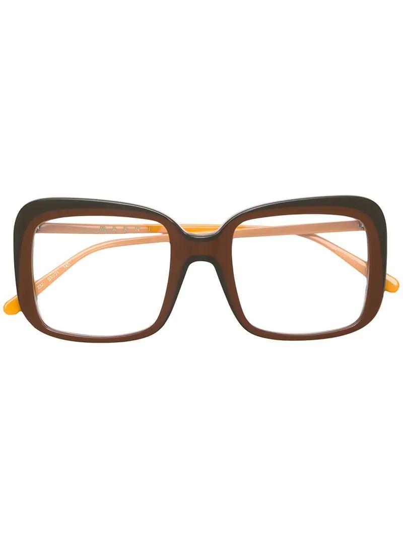 7b9108b87964 Marni Eyewear Square Frame Sunglasses - Brown
