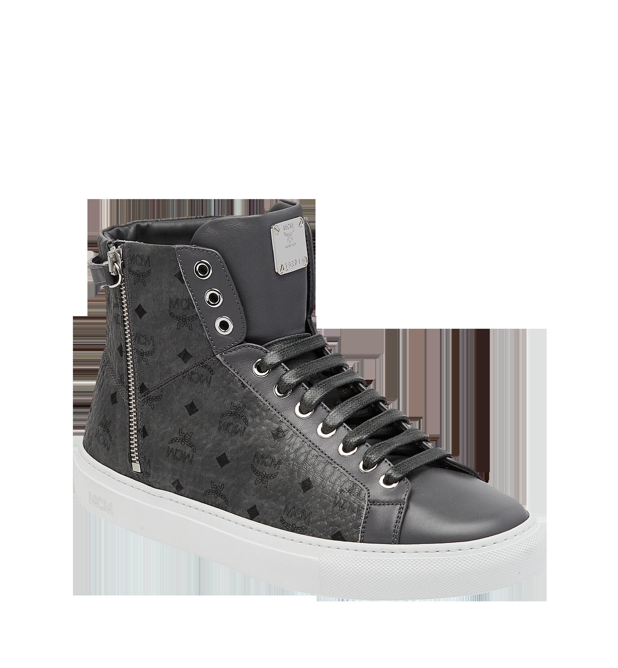 7273f846706 Mcm Women s High Top Turnlock Sneakers In Visetos In Eg
