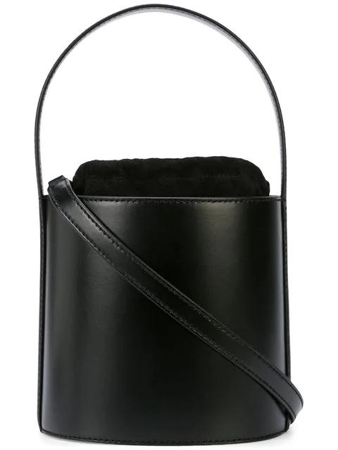 Staud Bisset Shoulder Bag In Black