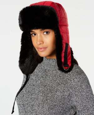 6c453820ecd25 Dkny Quilted Puffer Faux-Fur Trapper Hat