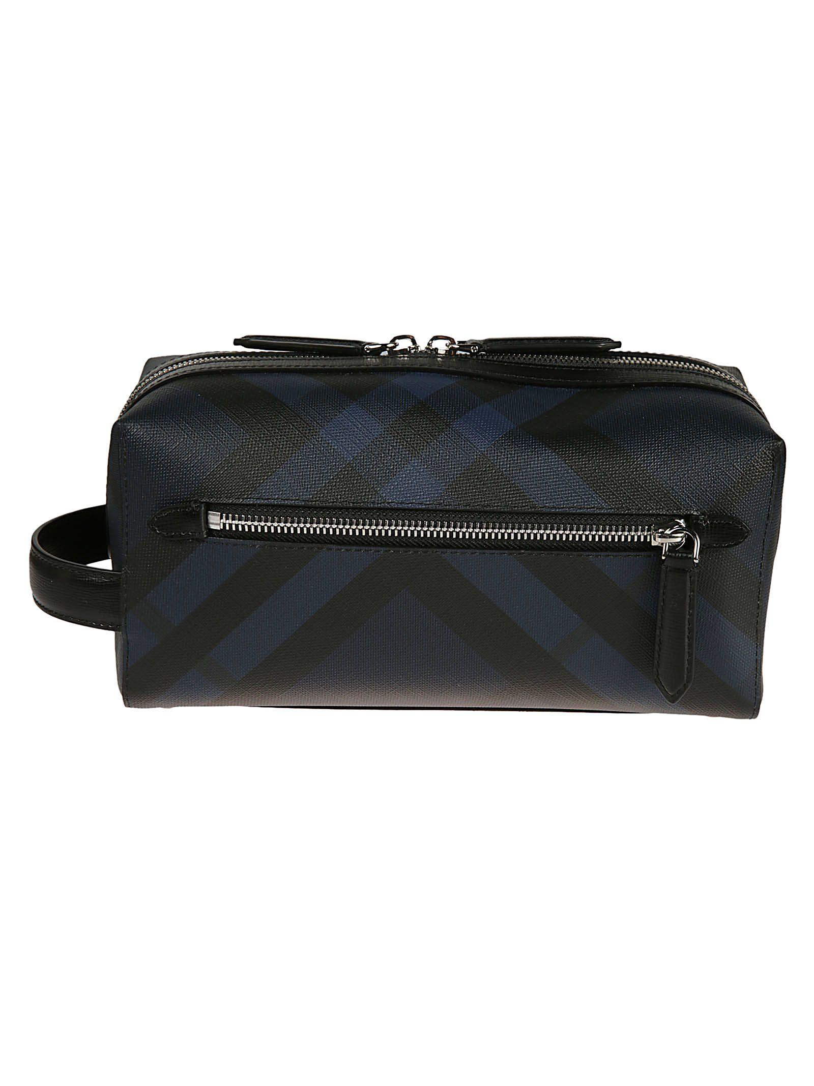 7754ed2440a3 Burberry London Check Clutch In Navy