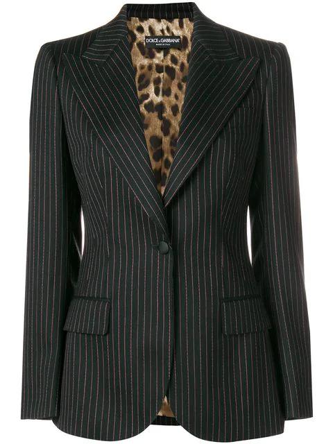 Dolce & Gabbana Fitted Reversable Blazer In S8052