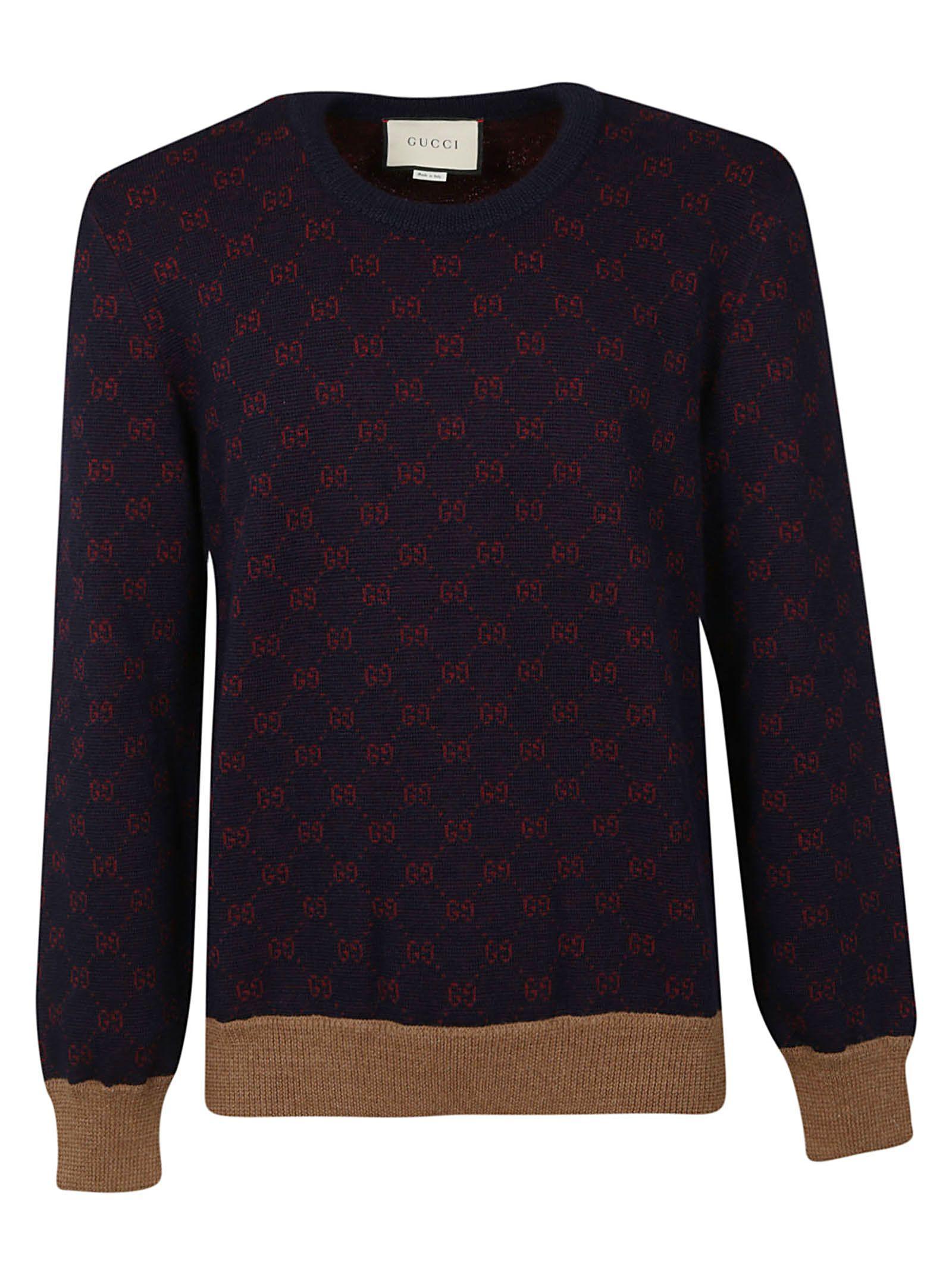 05e64a4fa Gucci Gg Jacquard Wool Sweater In Multicolor | ModeSens