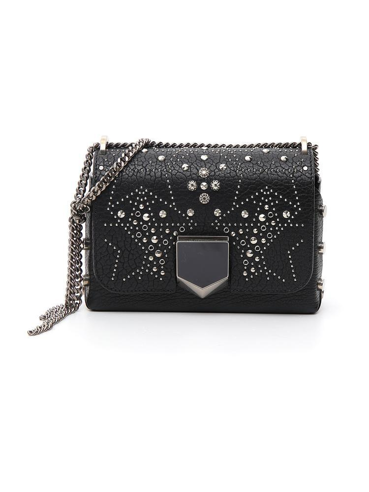 7c7bbb36e Jimmy Choo Graphic Star Studded Shoulder Bag In Black | ModeSens