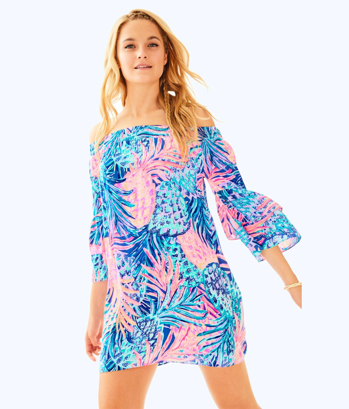 9b8f5a8aefc747 Lilly Pulitzer Tobyn Off The Shoulder Tunic Dress In Multi Gypset Paradise