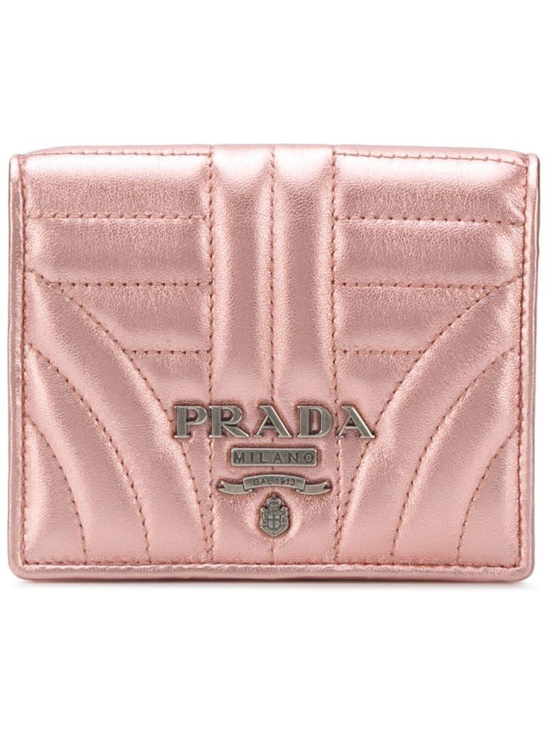 97604de006dfa8 Prada Diagramme French Wallet - Pink   ModeSens