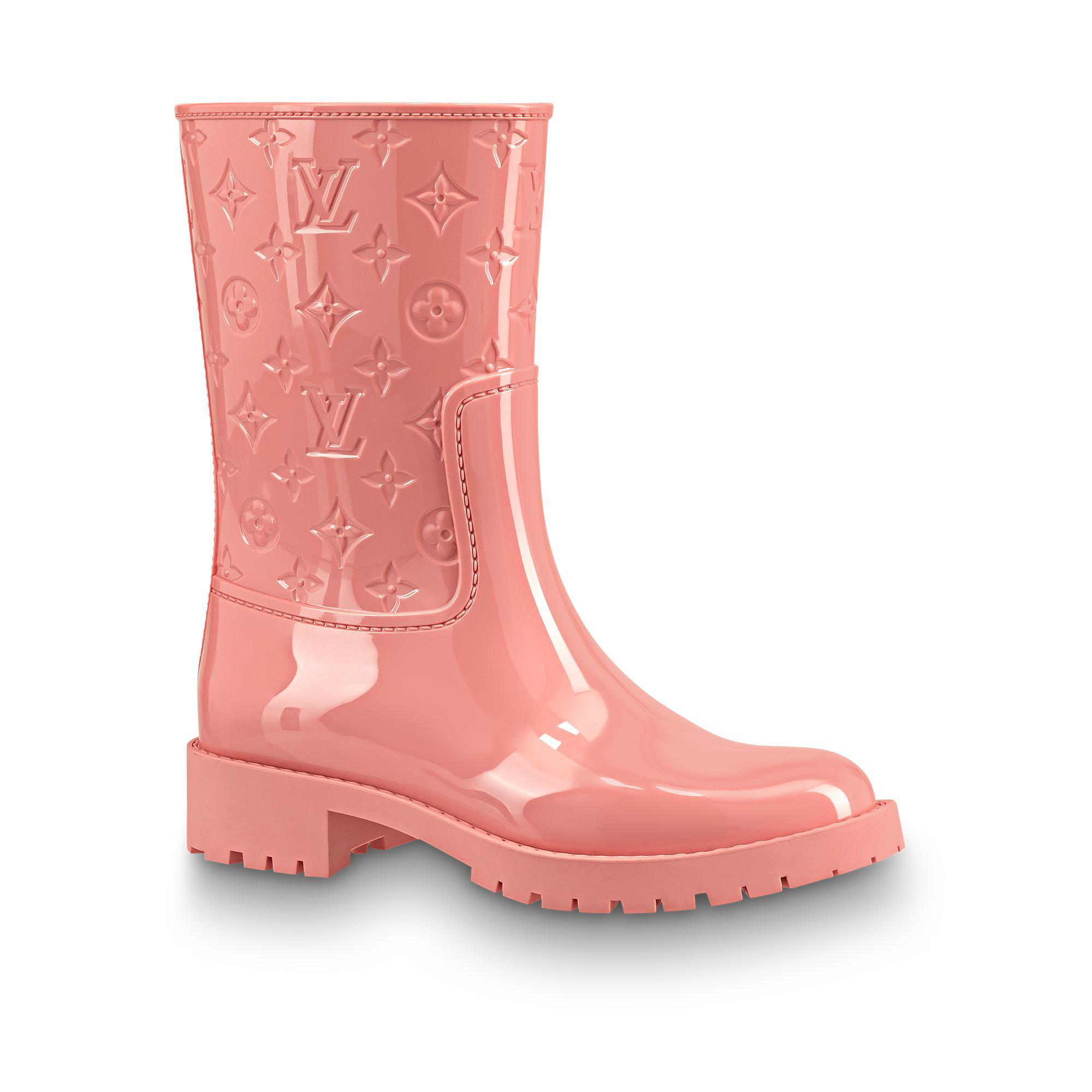 79a50daff921 Louis Vuitton Drops Flat Half Boot In Rose Clair
