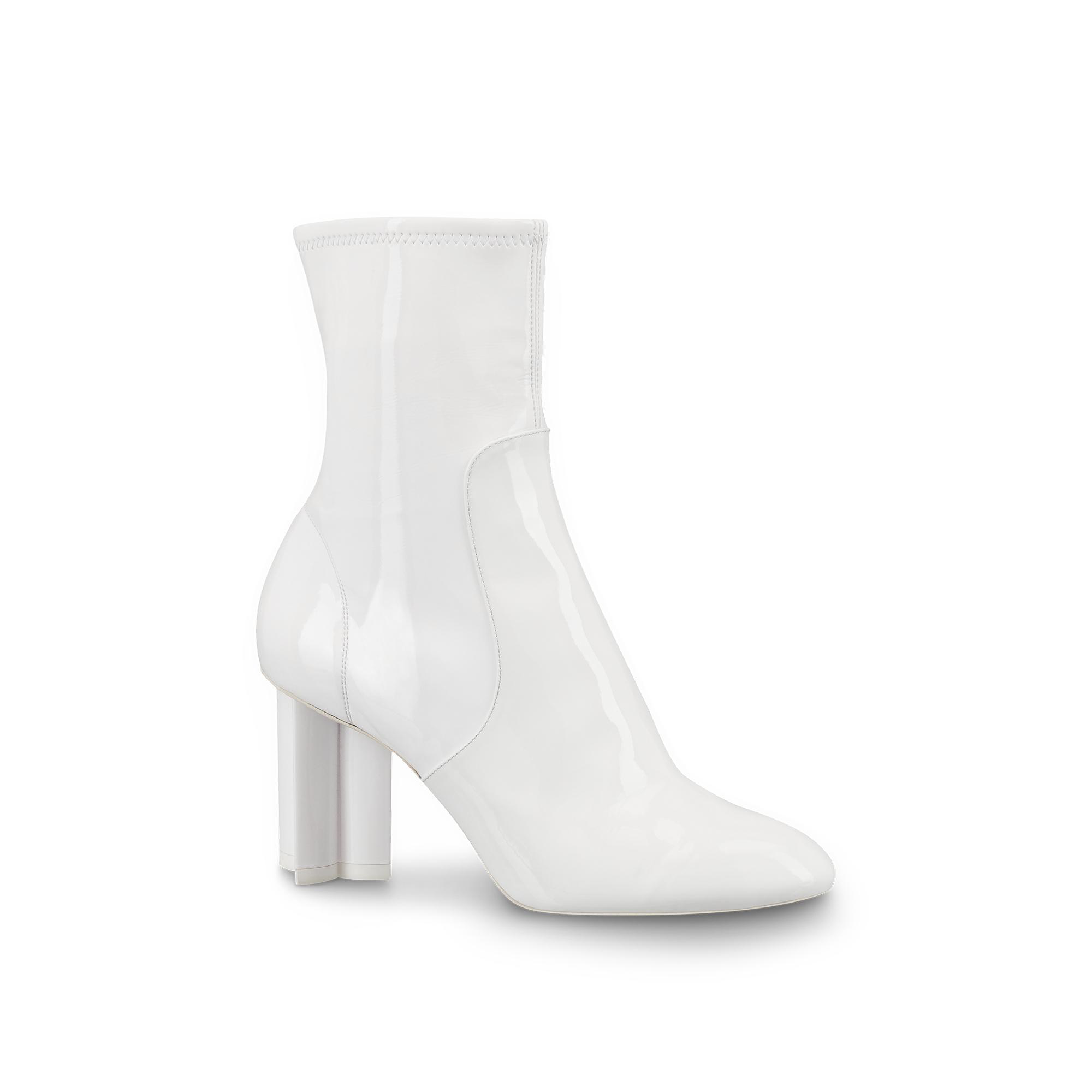 08955170bc35 Louis Vuitton Silhouette Ankle Boot In White