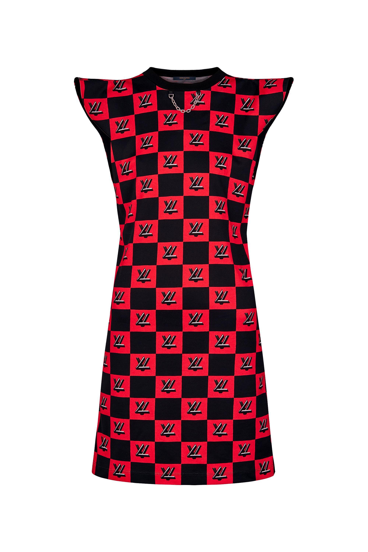 Louis Vuitton Lv Twist Lock Print Jersey Dress