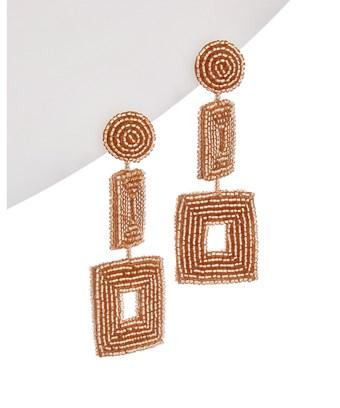 Kenneth Jay Lane Plated Double Square Drop Earrings In Nocolor