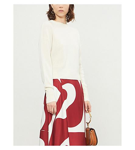 Theory Dropped-shoulder Cashmere Jumper In Ivory