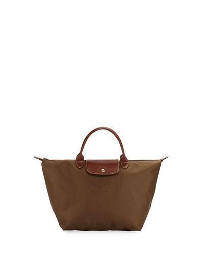 Longchamp Le Pliage Medium Tote Bag In Dark Beige