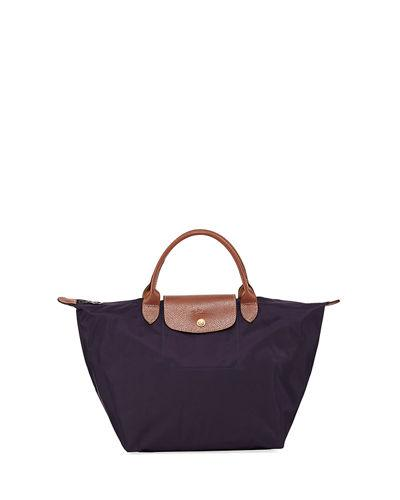 Longchamp Le Pliage Medium Tote Bag In Dark Purple