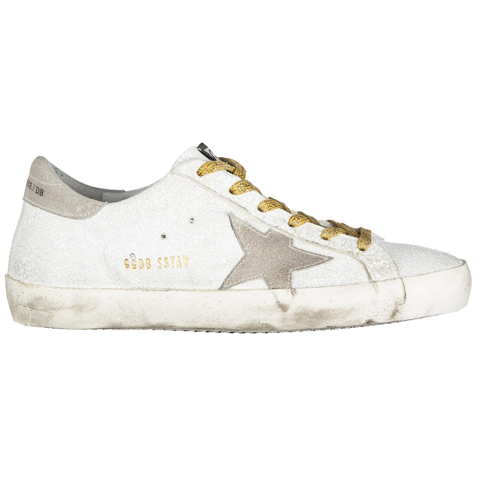Golden Goose Women's Shoes Leather Trainers Sneakers Superstar In White