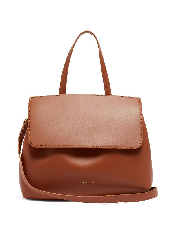 Mansur Gavriel Mini Lady Drawstring Leather Bag In Tan