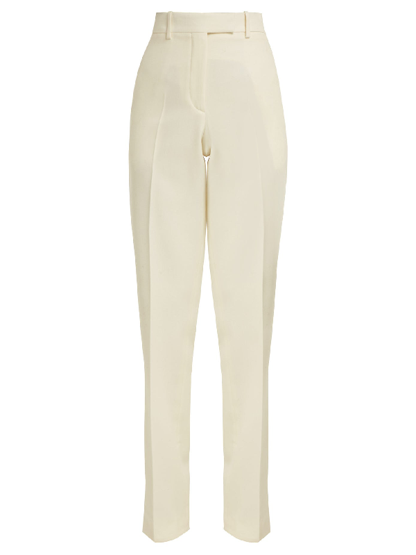 Calvin Klein 205w39nyc Side-striped Wool Trousers In White