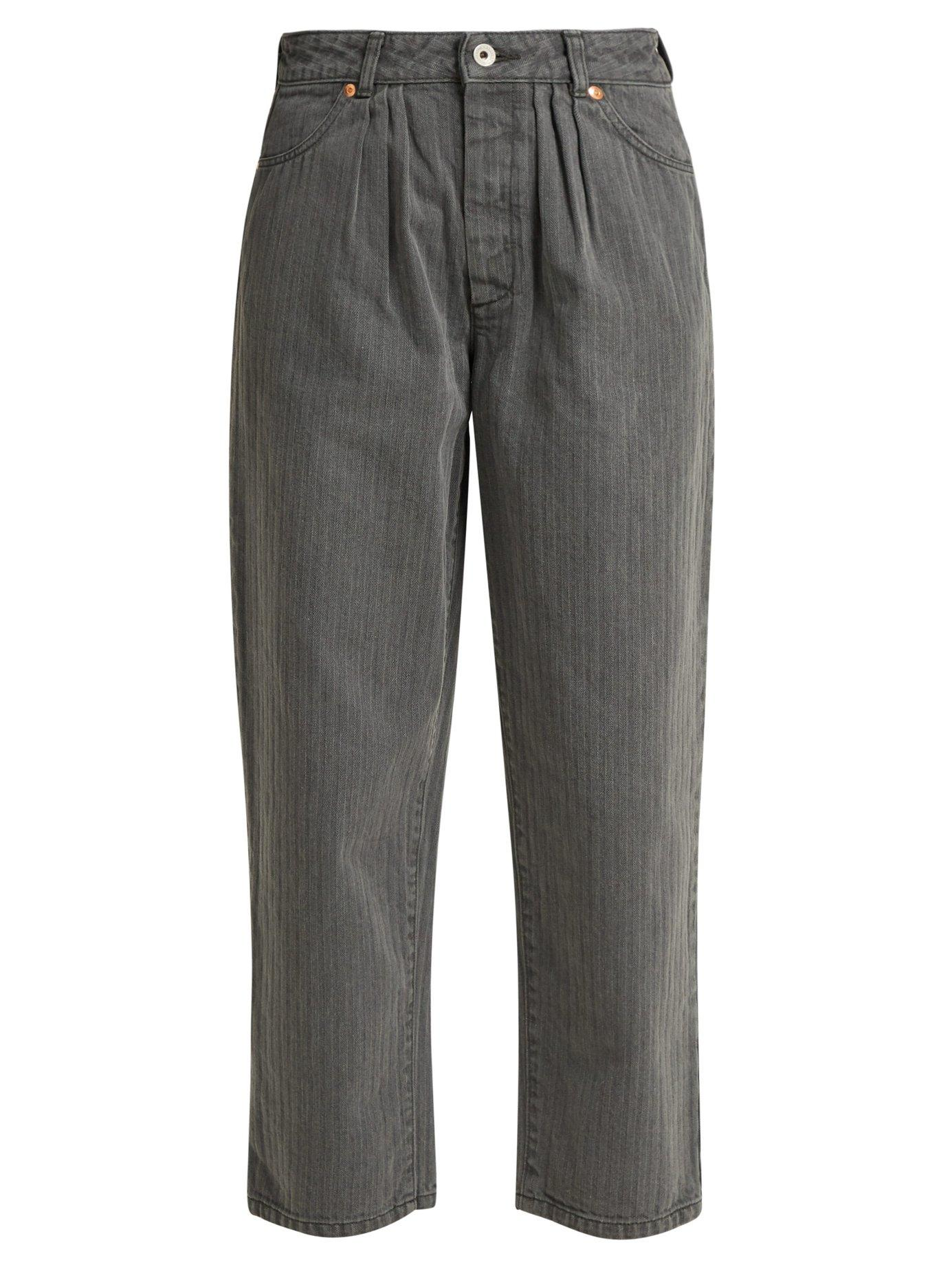 Chimala Straight-leg Herringbone Jeans In Grey