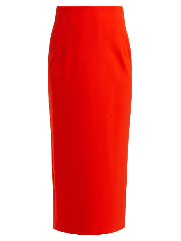 Vika Gazinskaya Stretch-jersey Pencil Skirt In Red