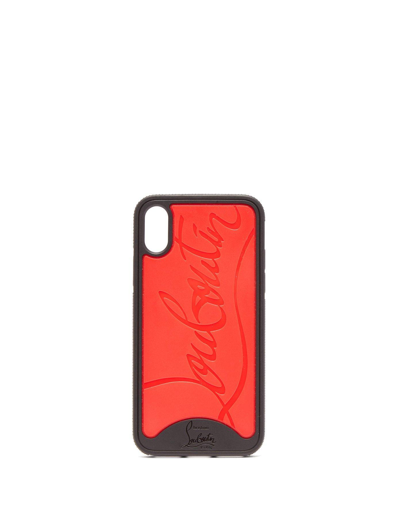 Christian Louboutin - Loubiphone Logo Iphone® X Case - Womens - Black Red