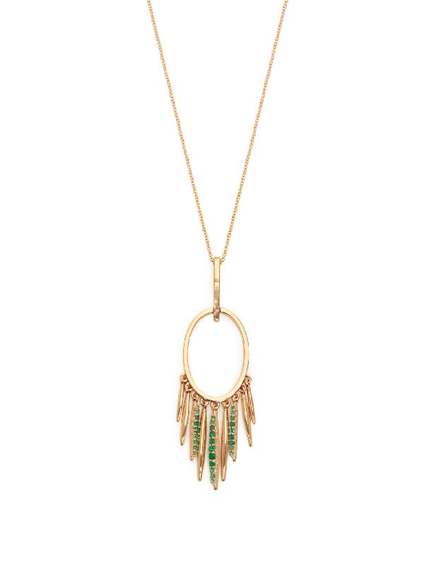 Ileana Makri Grass Sunset Emerald & 18kt Gold Necklace