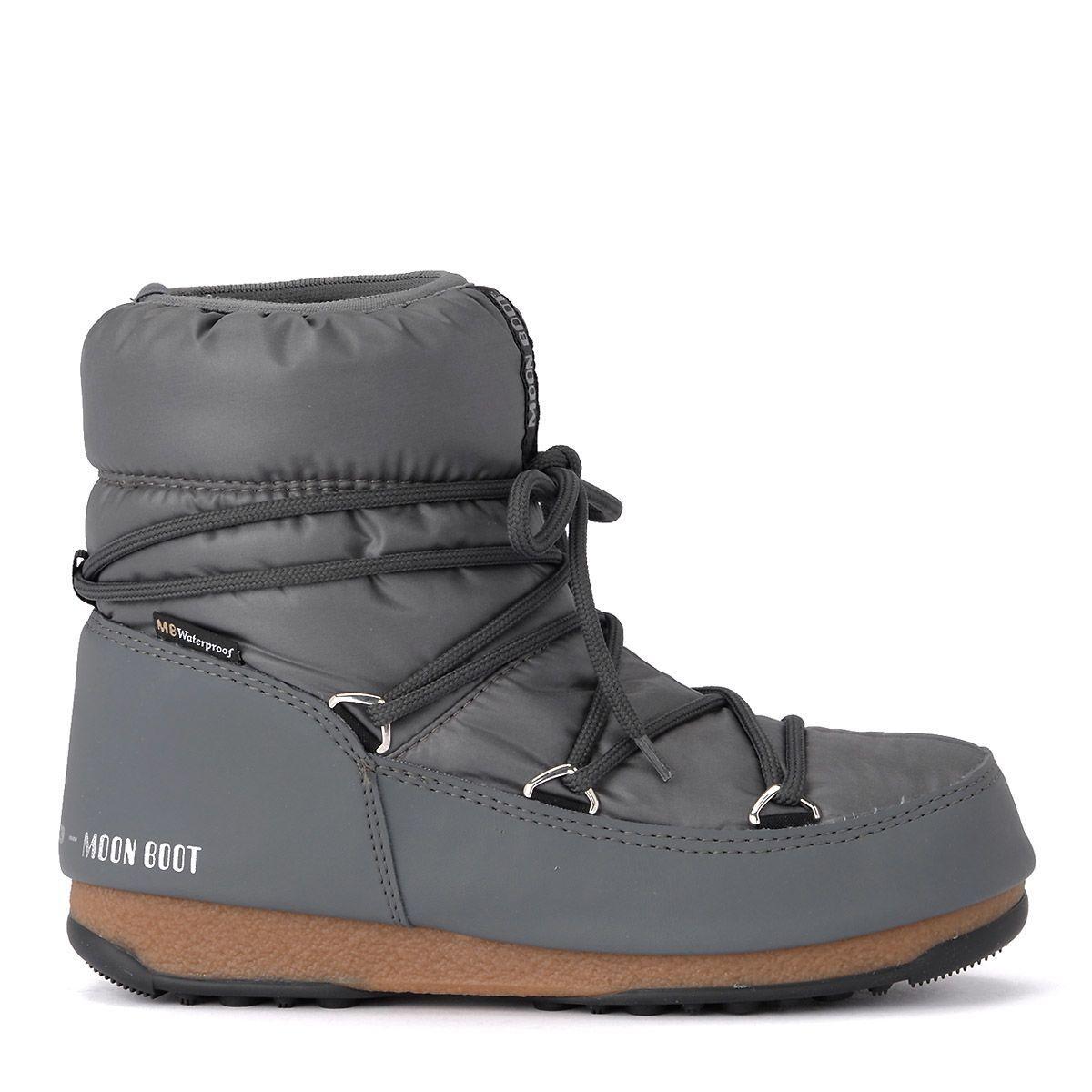 Moon Boot W.e. Low Grey Nylon Waterproof . In Grigio