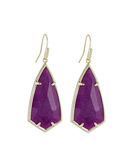 Kendra Scott Carla Statement Earrings - Purple Jade